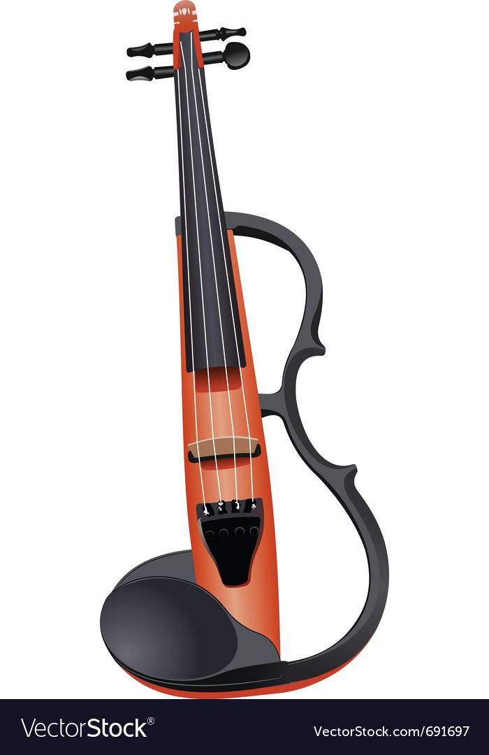 Rock violin vector image