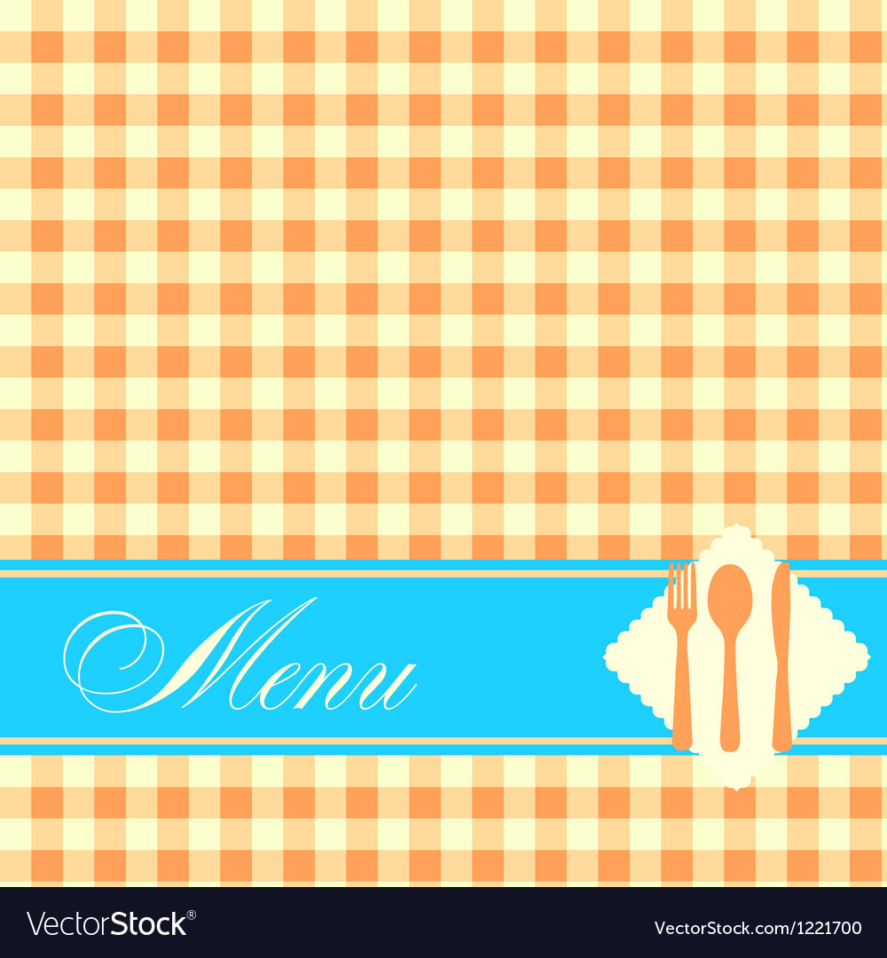 Restaurant menu template vector image