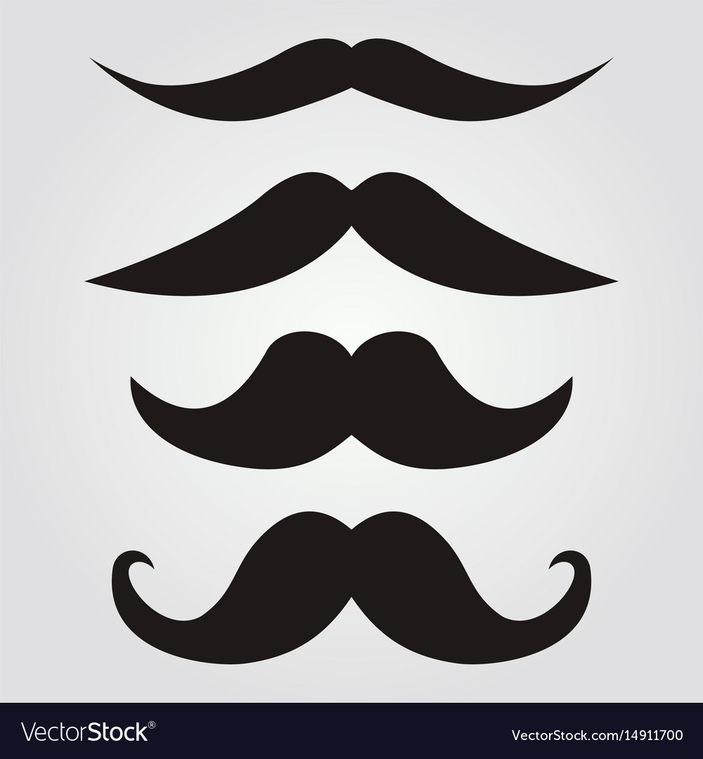 Set of hipster mustache vector image