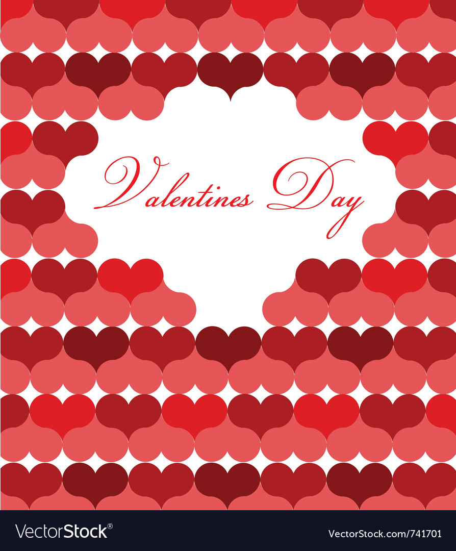 card template for valentine day vector image - Valentines Day Template