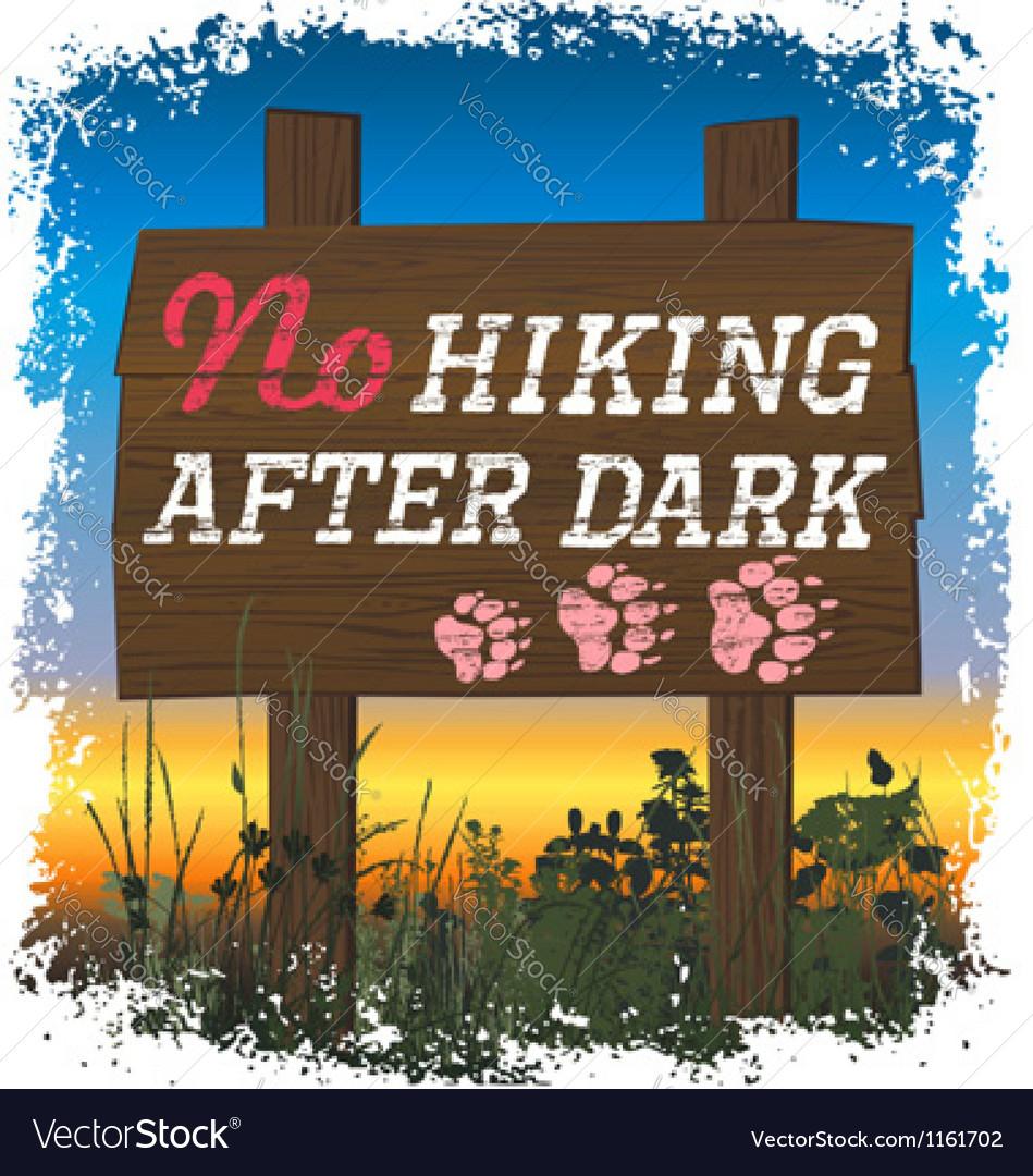 Hiking sport vector image