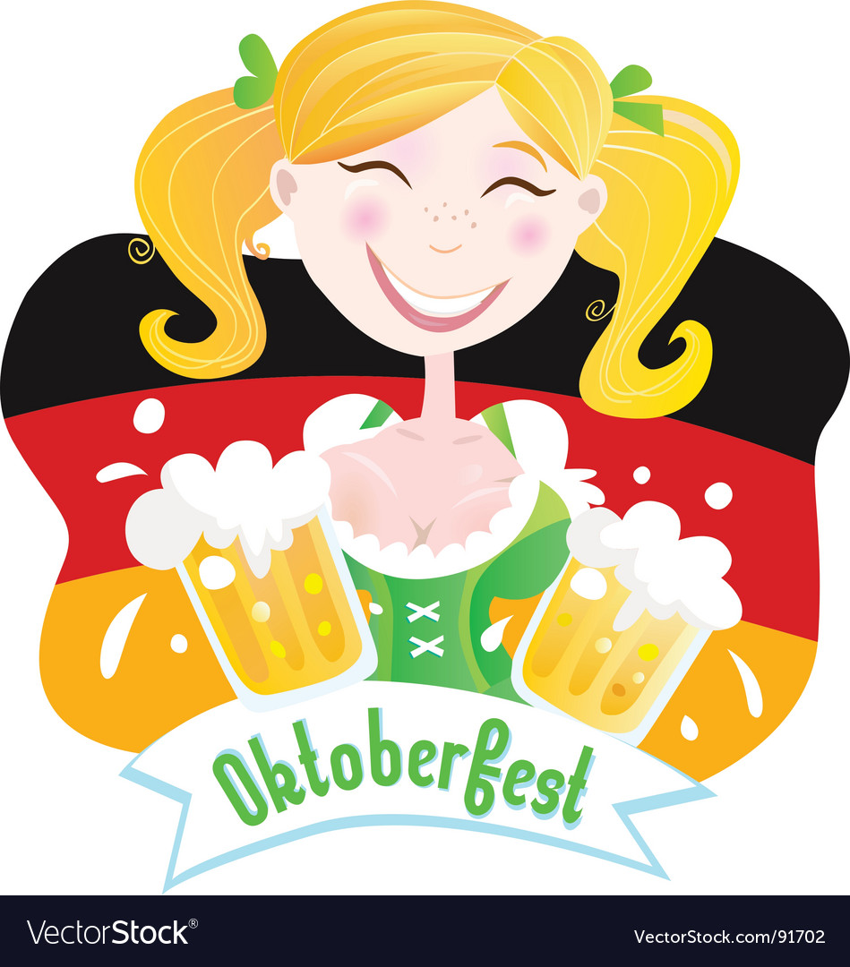 Oktoberfest Bavarian female vector image