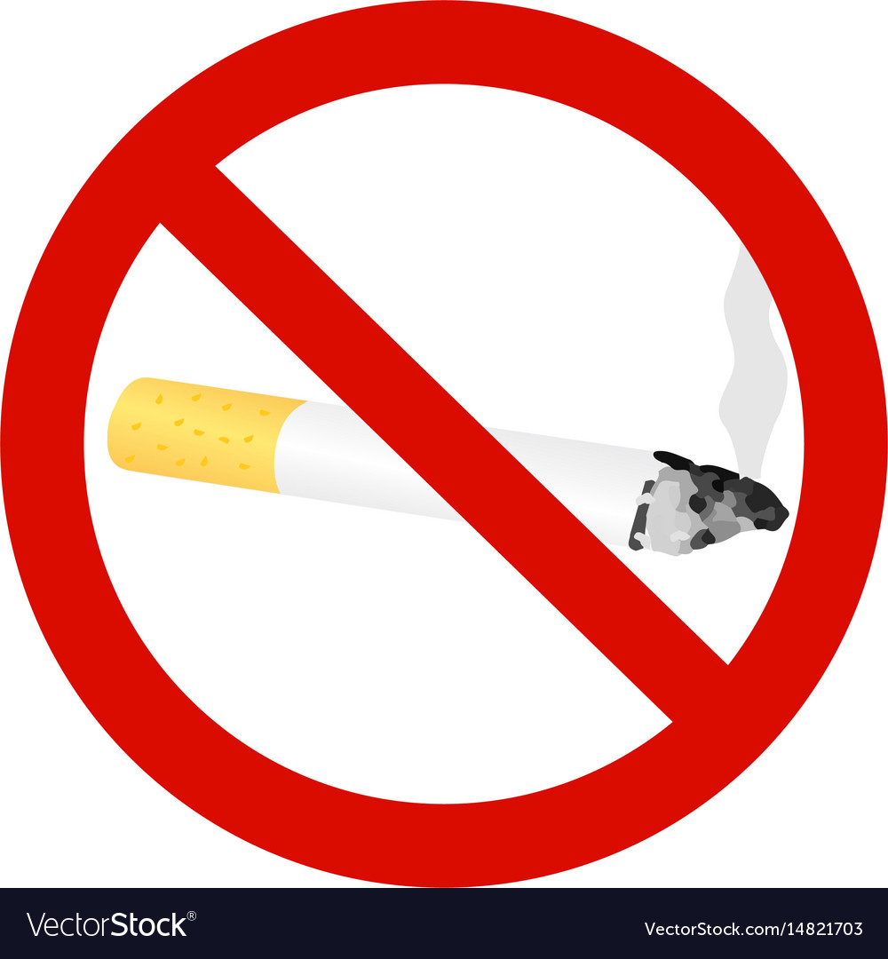 The sign no smoking cigarette vector image