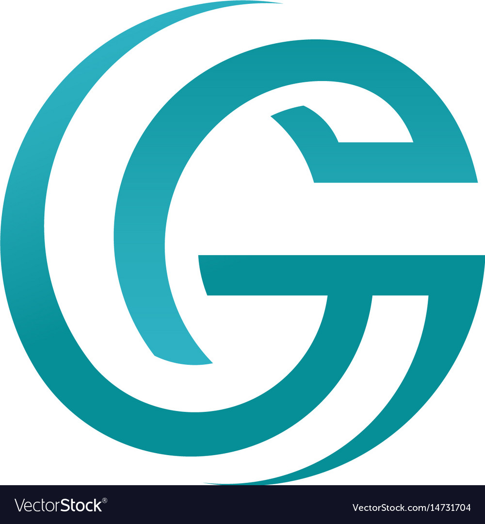 Abstract best letter g circle style logo concept vector image