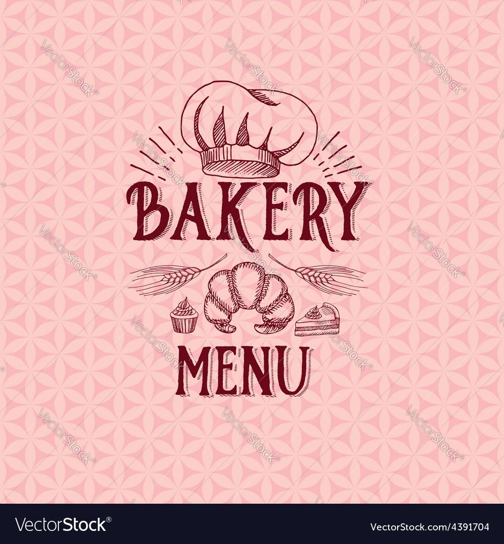 Menu logo template vintage badge food design vector image
