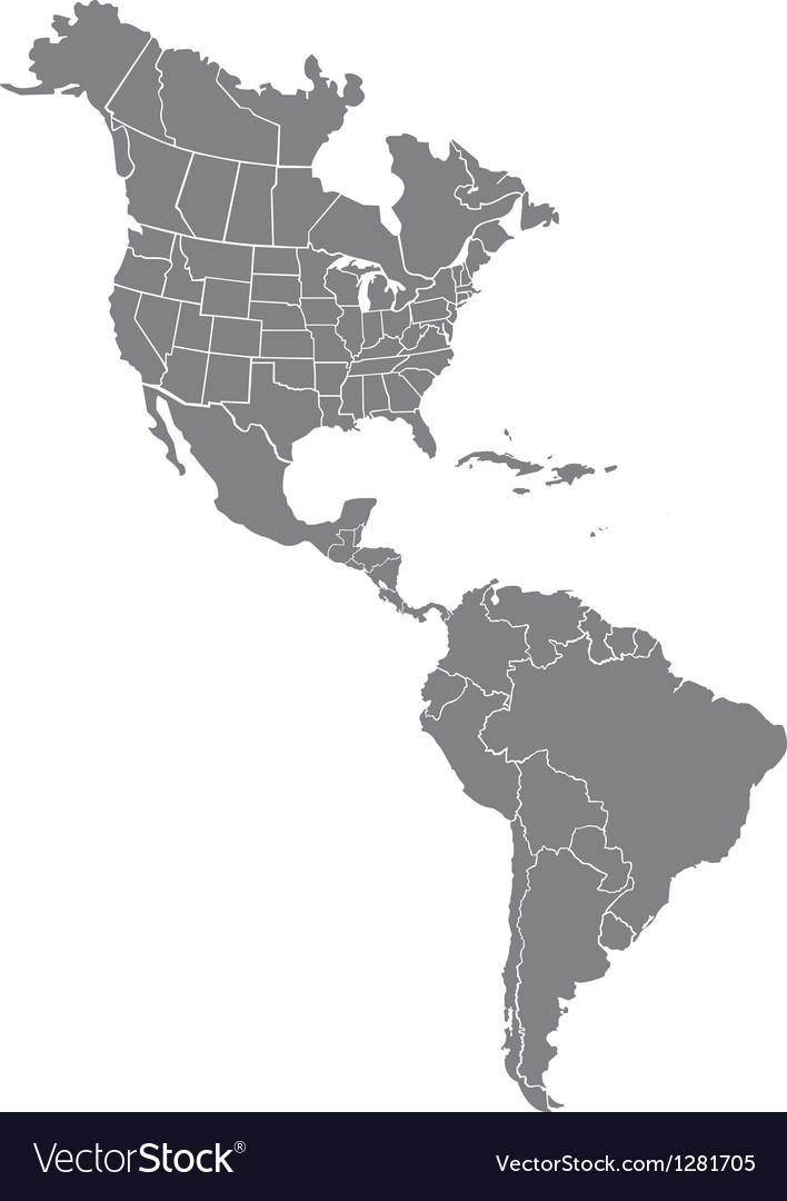 Map Of America Vector  America Map