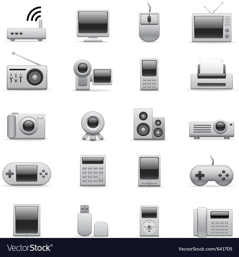 Electronic icons vector image
