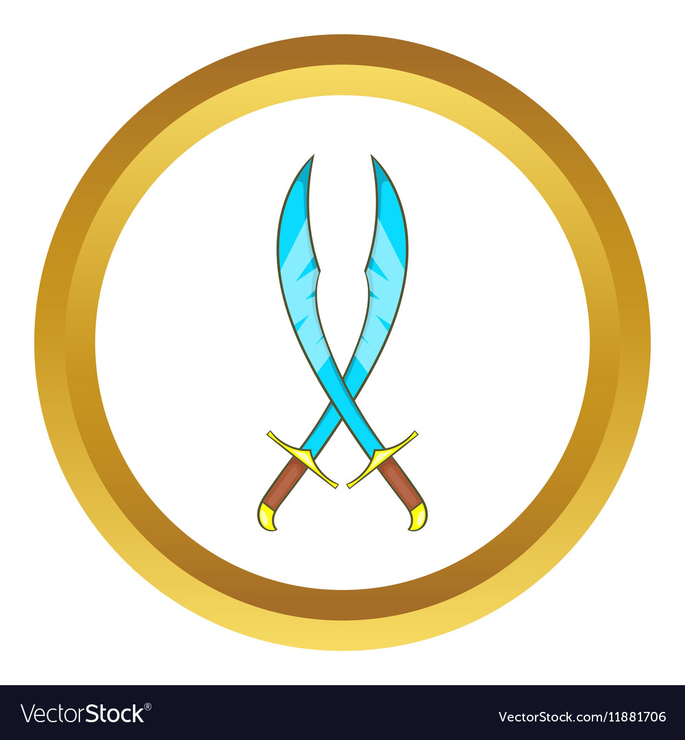 Crossed scimitars icon vector image