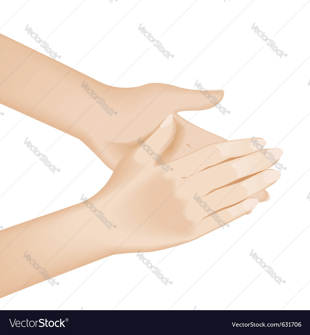Hand washing vector image