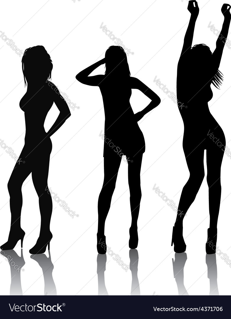 Sexy girls vector image