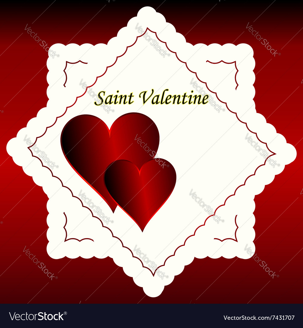 Heart love shape red symbol day design valentine r vector image