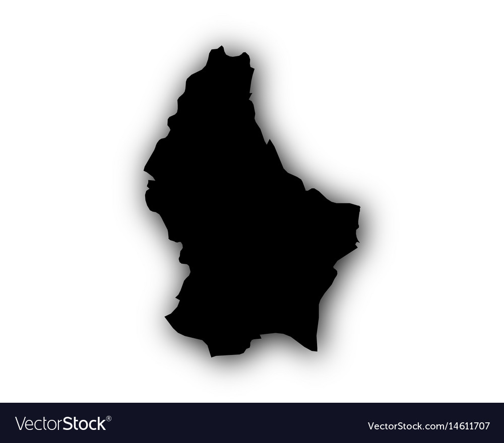 Map of luxembourg with shadow vector image