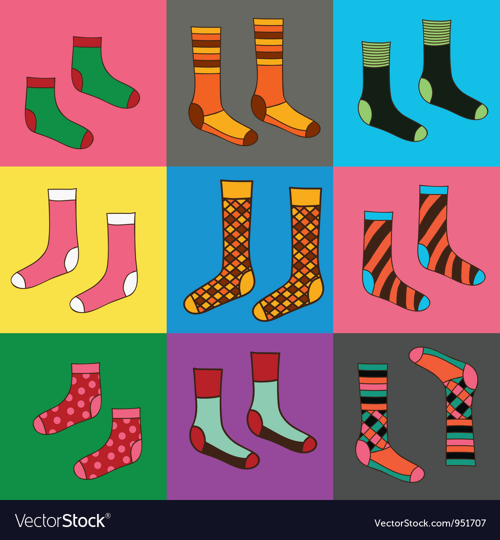 Socks seamless funny wallpaper vector image