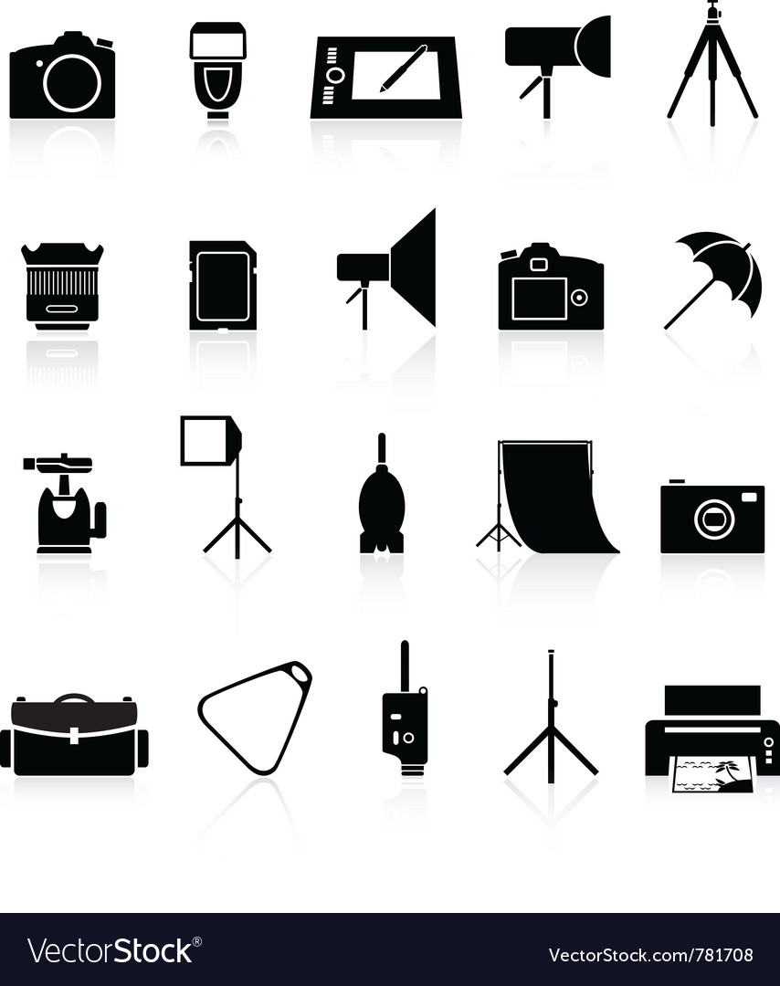 Photo collection of icons Vector Image