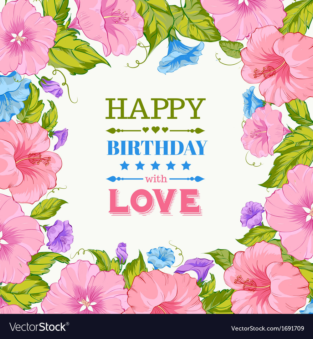Happy birthday card Royalty Free Vector Image VectorStock – Happy Birthday Card Design Free