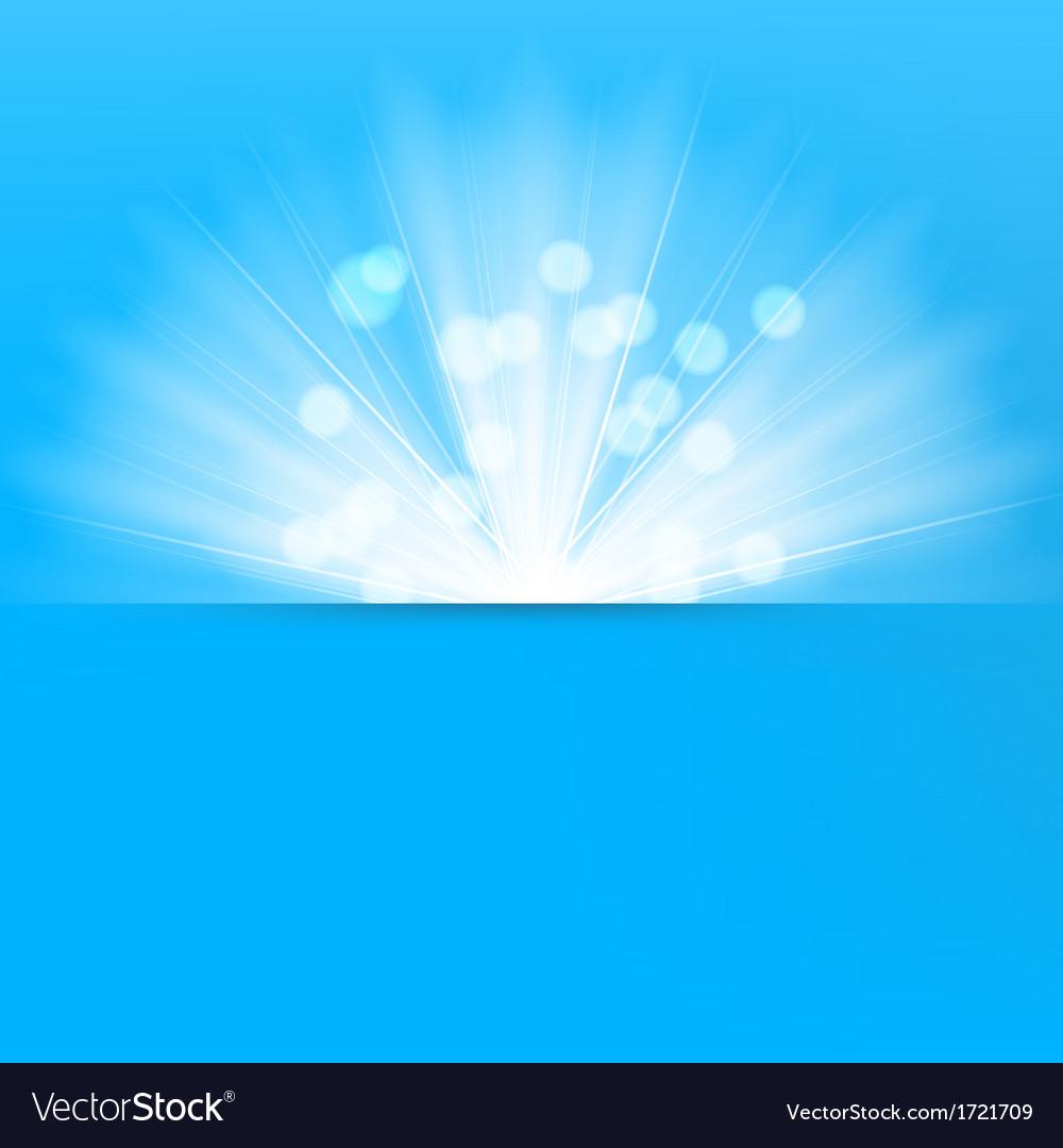 Light burst blue background vector image