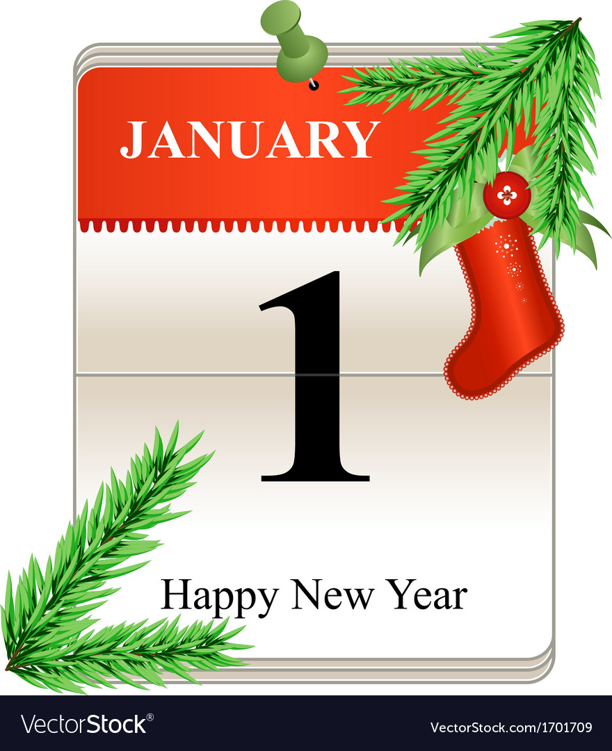 NY calendar vector image