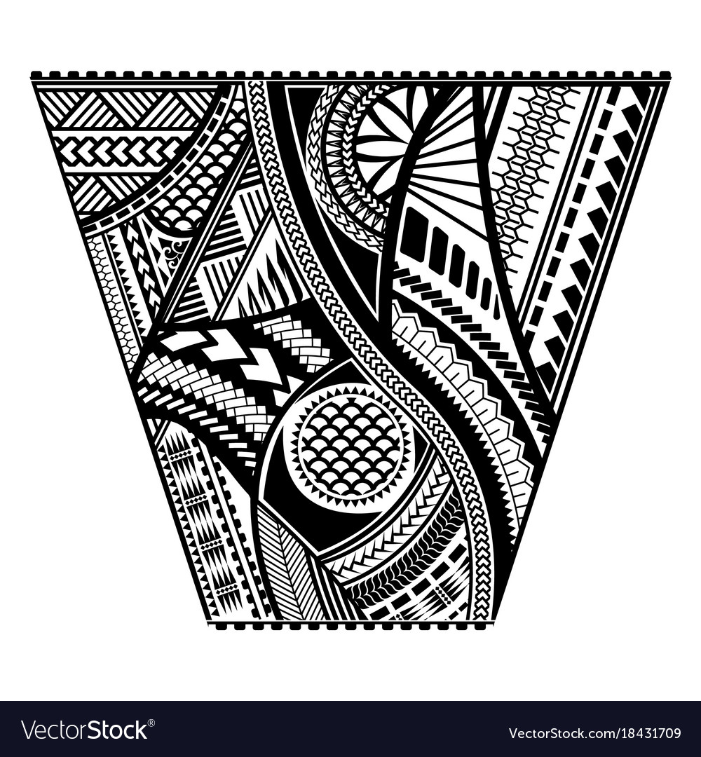stock vector of maori polynesian style tattoo male