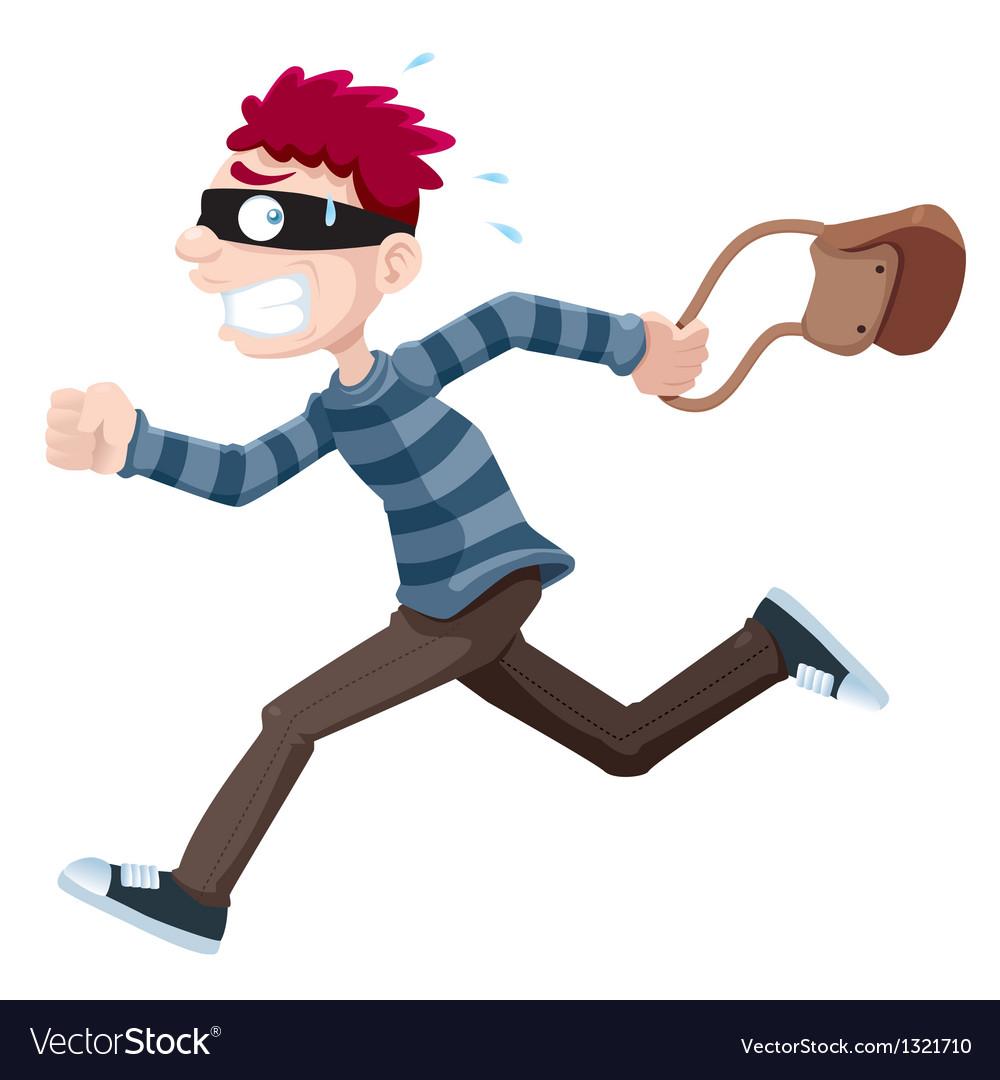 Thief running vector image