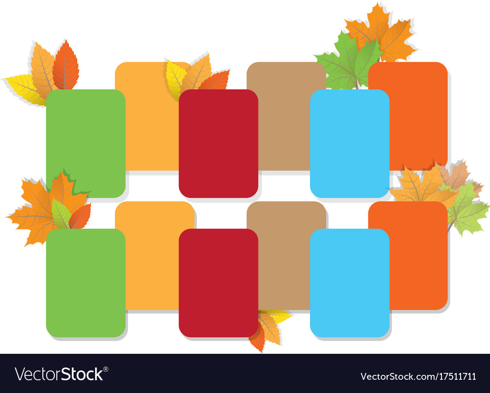 Colored empty advertising vector image