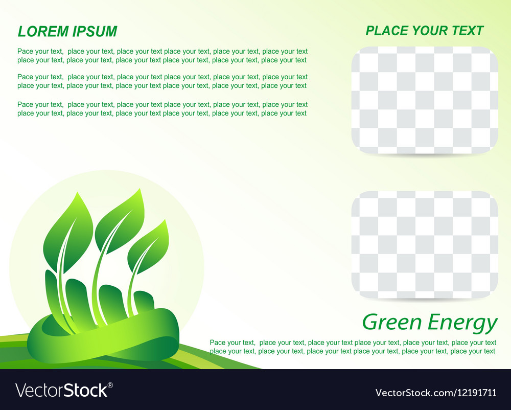 Template A4 vector image