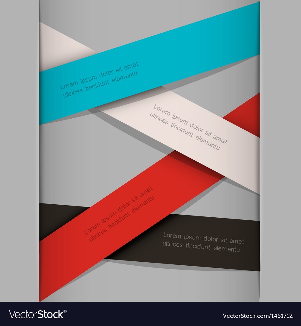 Minimalistic background with paper stripes vector image