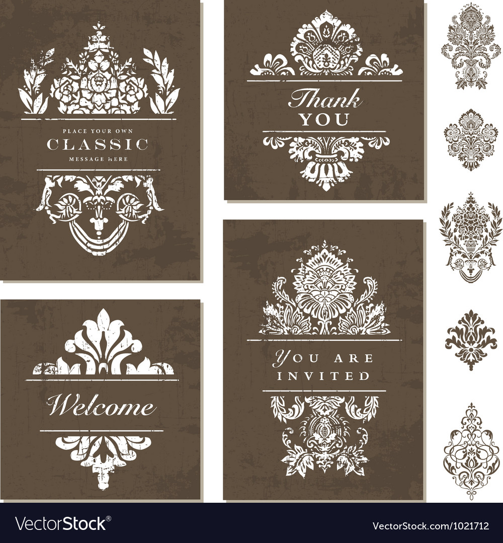 Victorian Styled Templates vector image