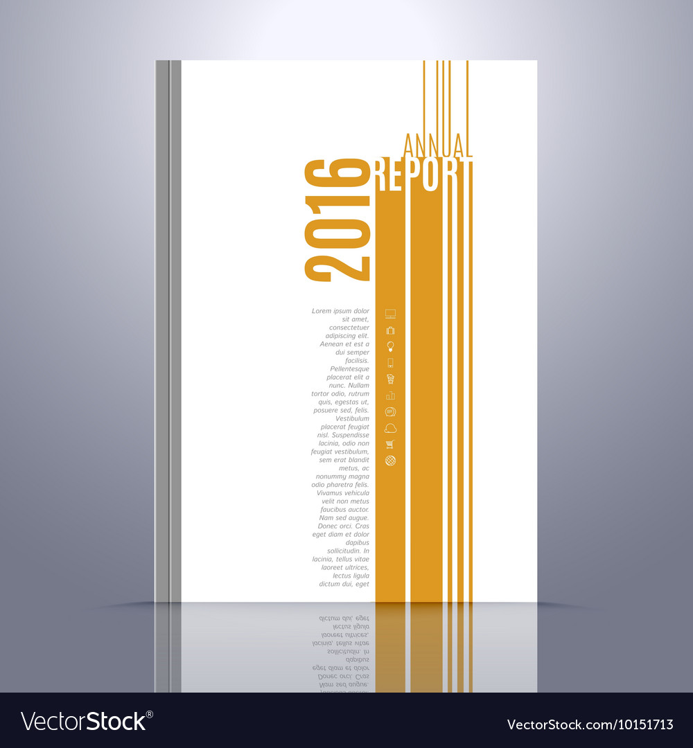 Design Template for Annual Report Book vector image