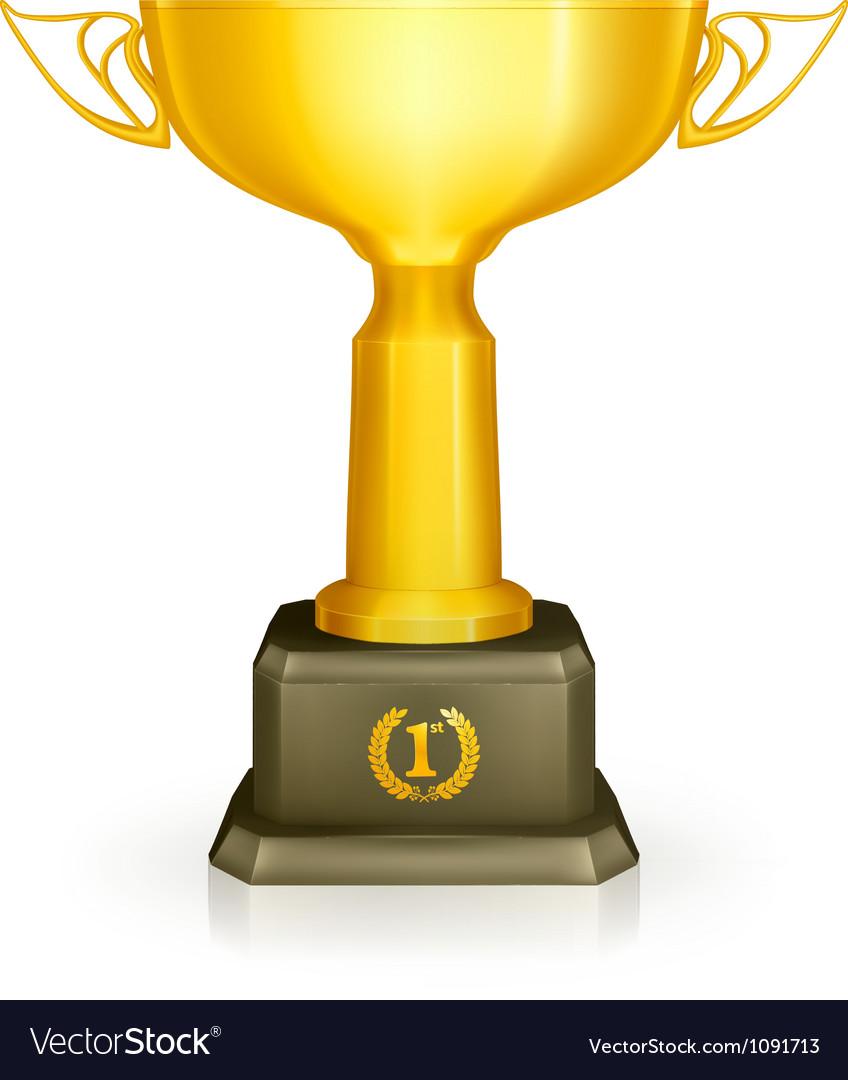 Racing trophy vector image