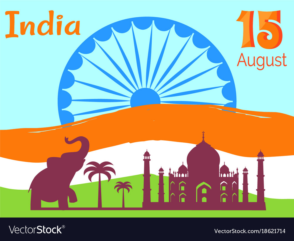 15 august independence day in india holiday poster vector image