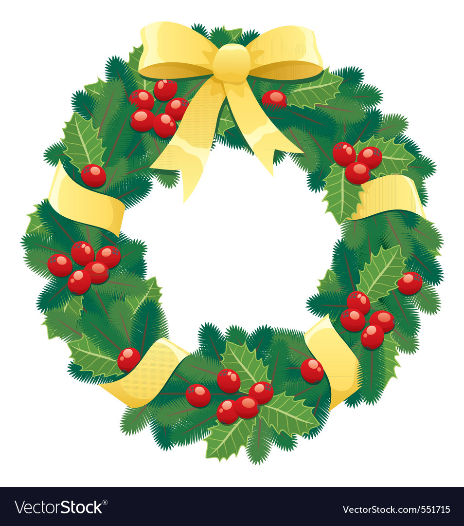 christmas wreath royalty free vector image vectorstock