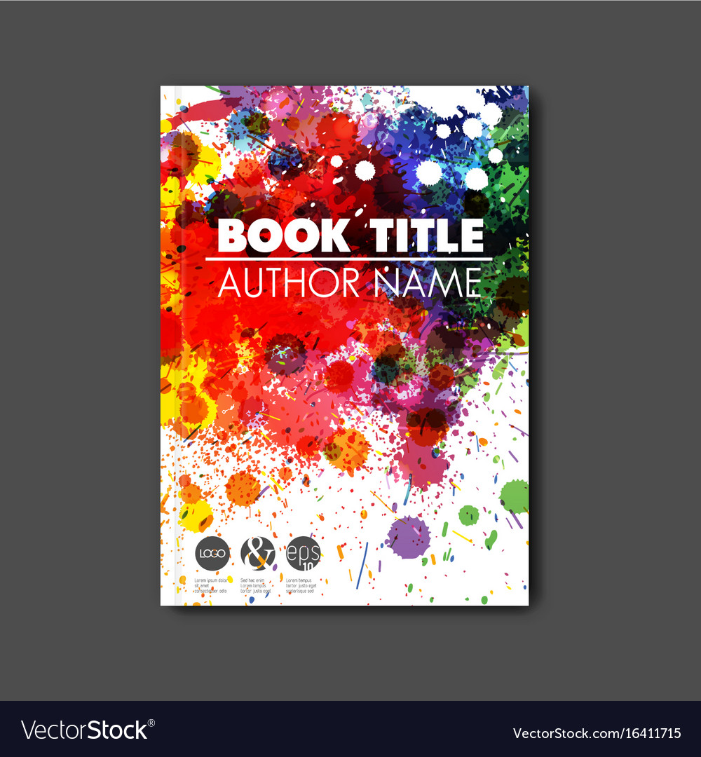 Book Cover Art Royalties : Modern abstract book cover template royalty free vector
