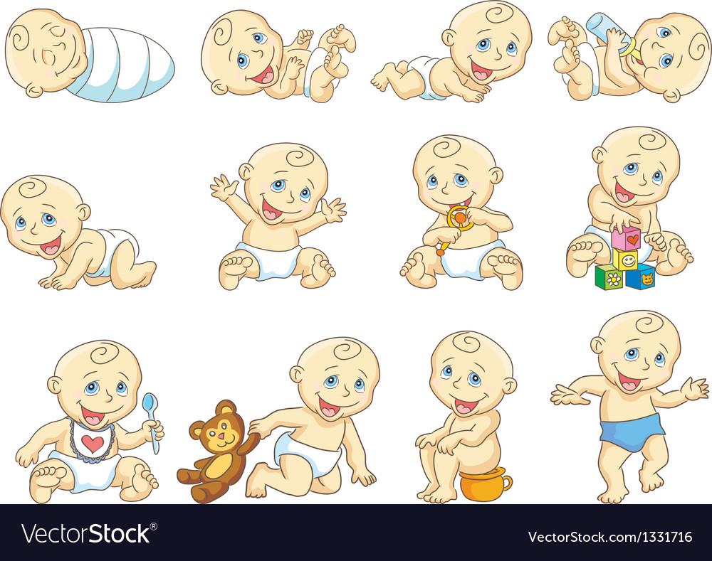 Baby vector image