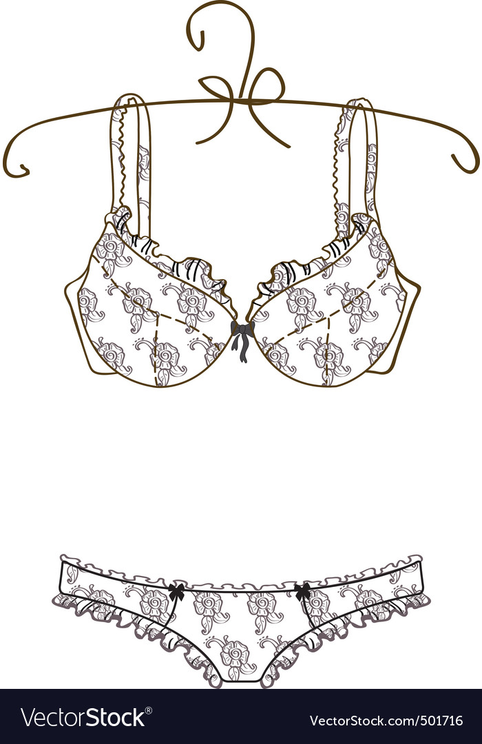 Lingerie vector image