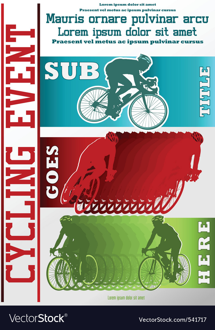Sport event poster cycling vector image