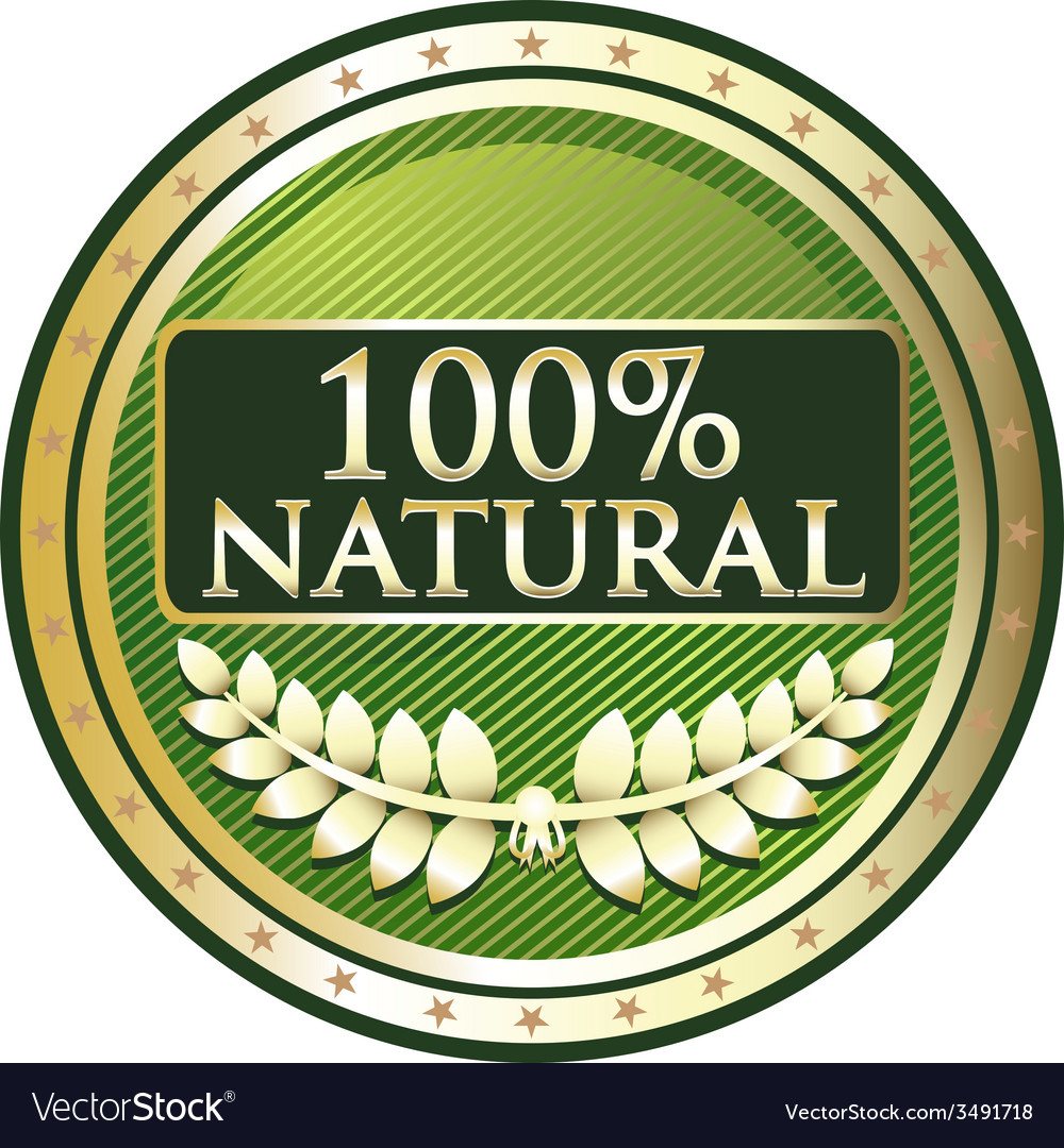 Hundred Percent Natural vector image