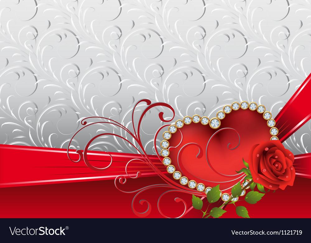 Festive card vector image