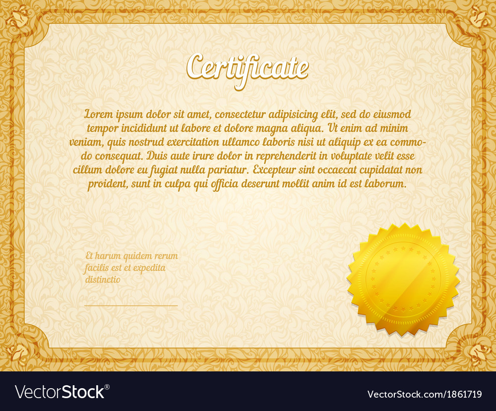 Retro frame certificate template royalty free vector image retro frame certificate template vector image yadclub Images