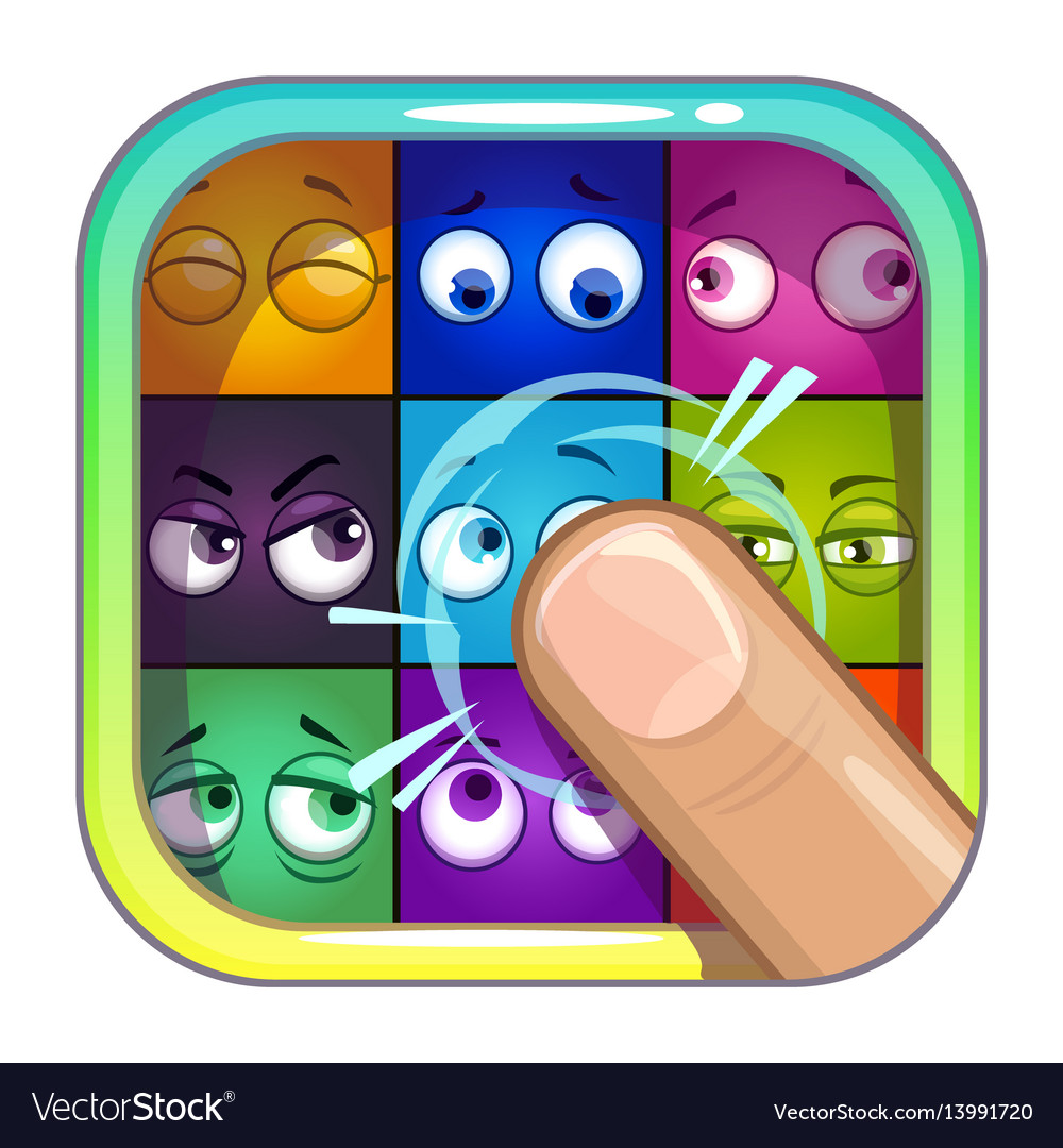 Application store icon template vector image