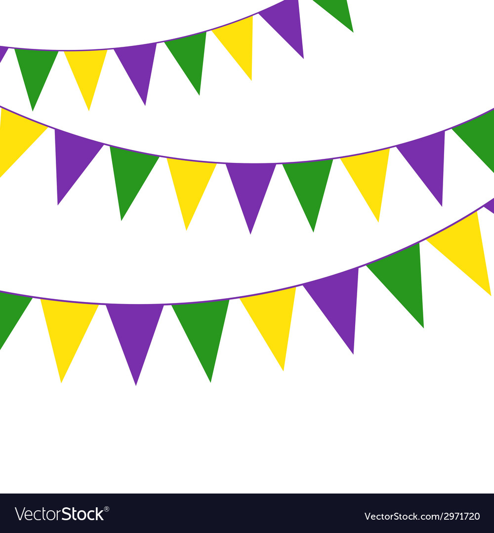 Mardi Gras party bunting vector image
