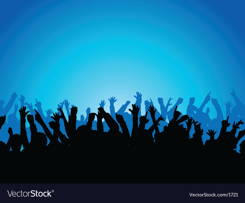 Party crowd vector image