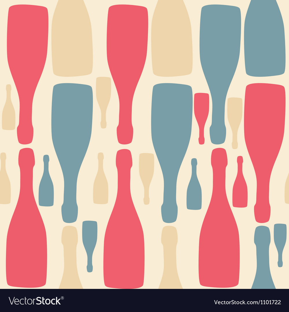 Background with bottles Good for restaurant or bar vector image
