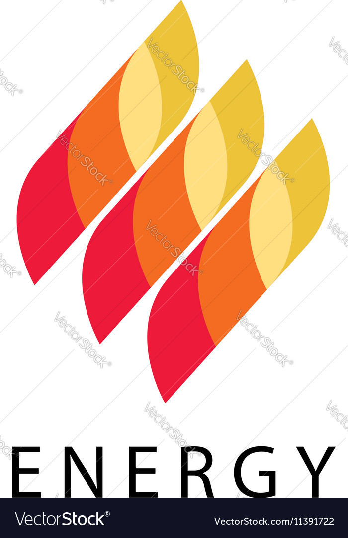 Energy logo abstract fire flame brand vector image