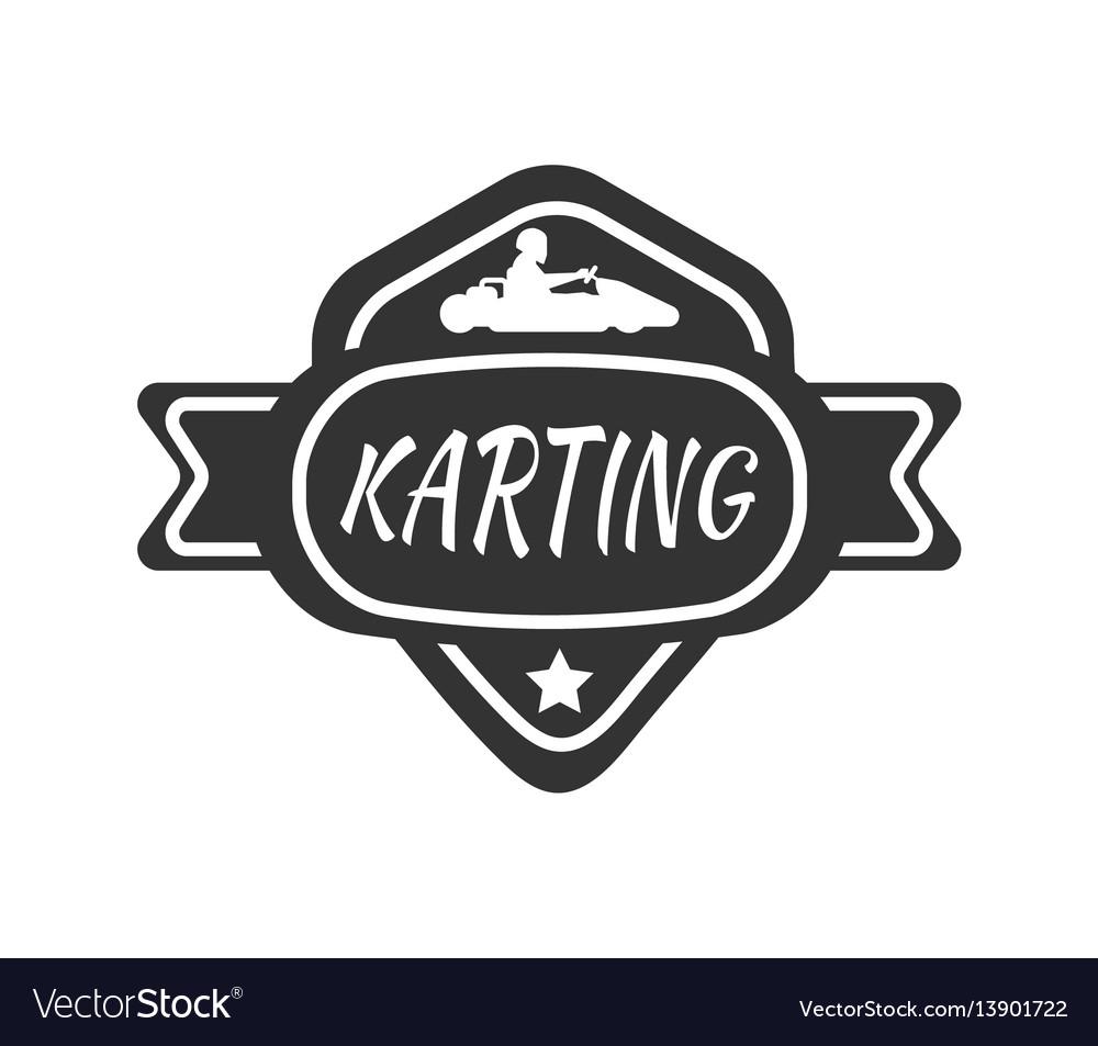 Karting club or kart races sport car vector image