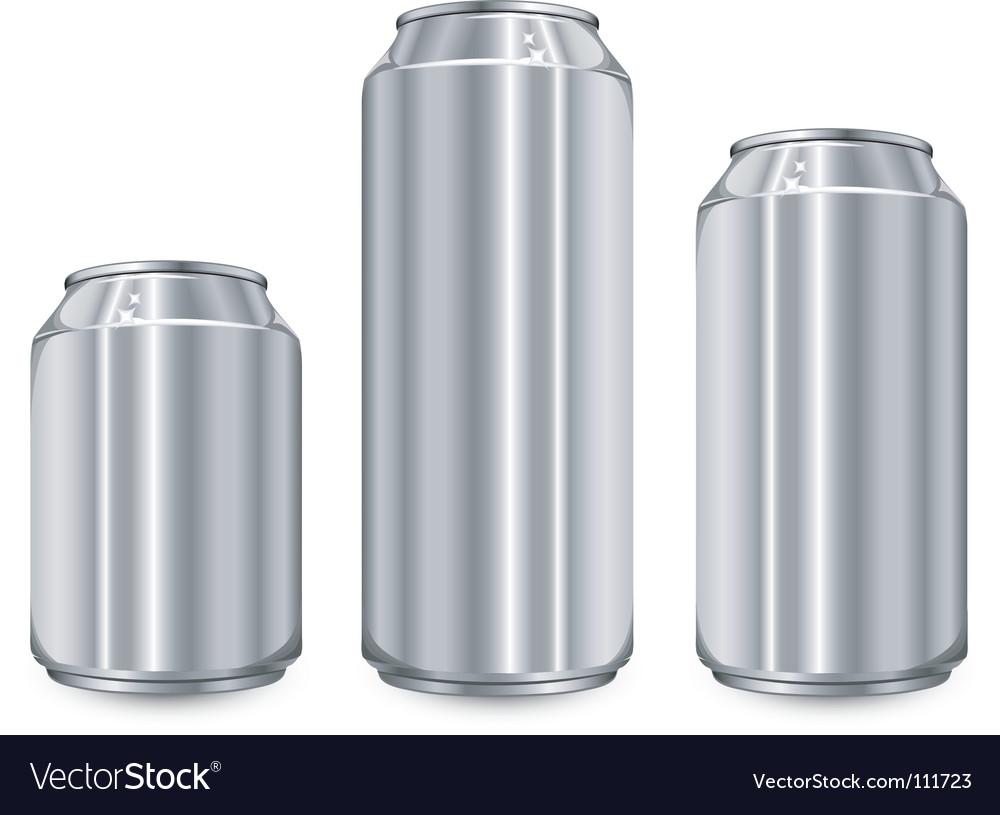 Three aluminum jar Vector Image