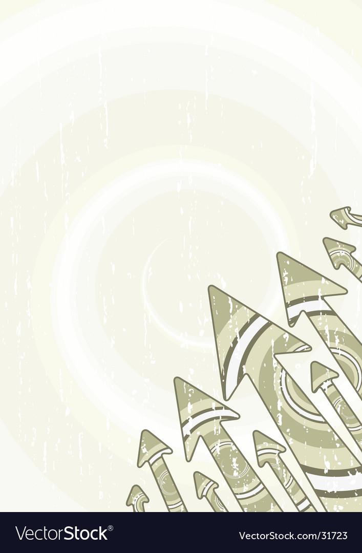 Retro arrows stylish sheet vector image
