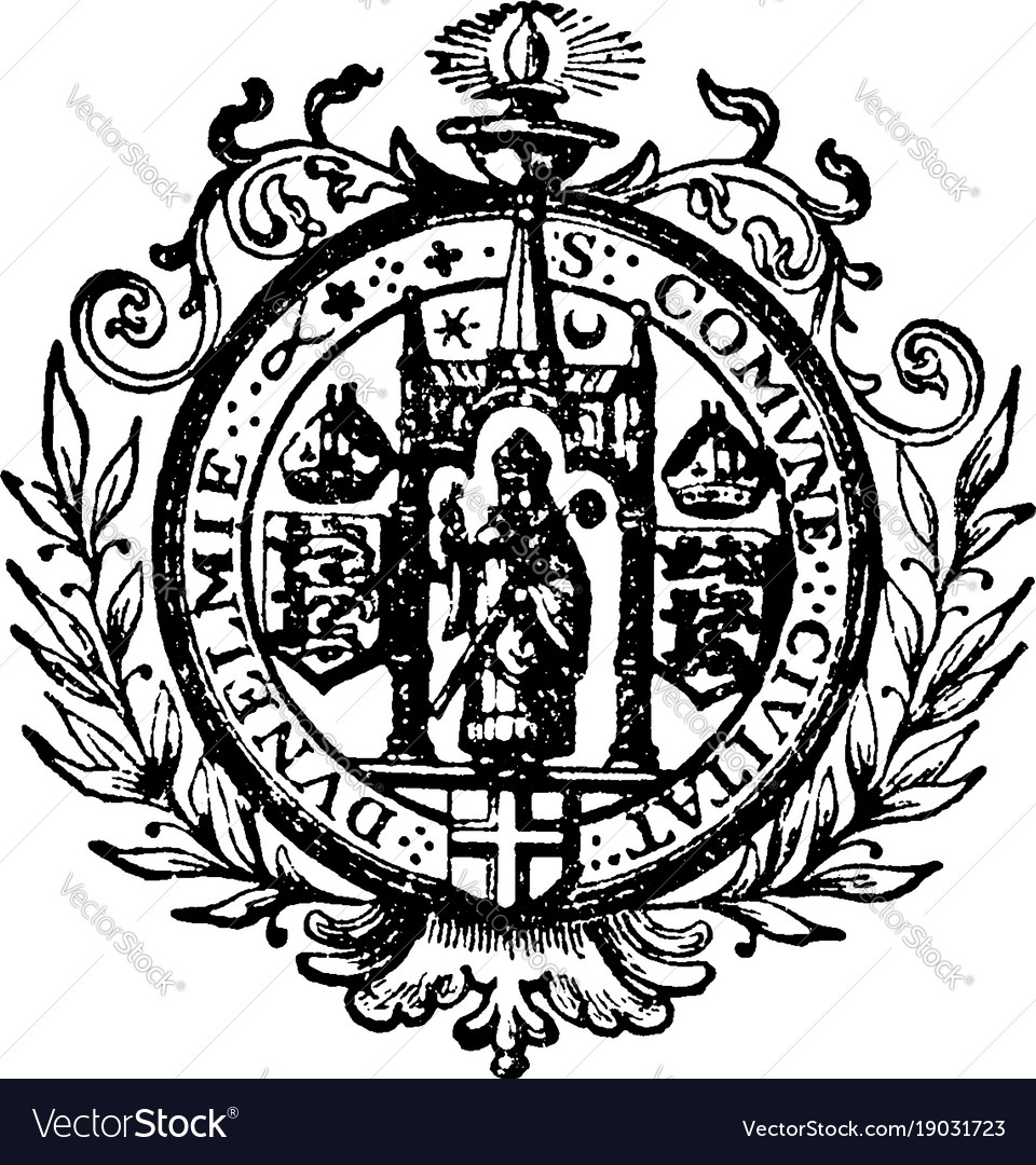 The seal for the civil corporation of durham and vector image
