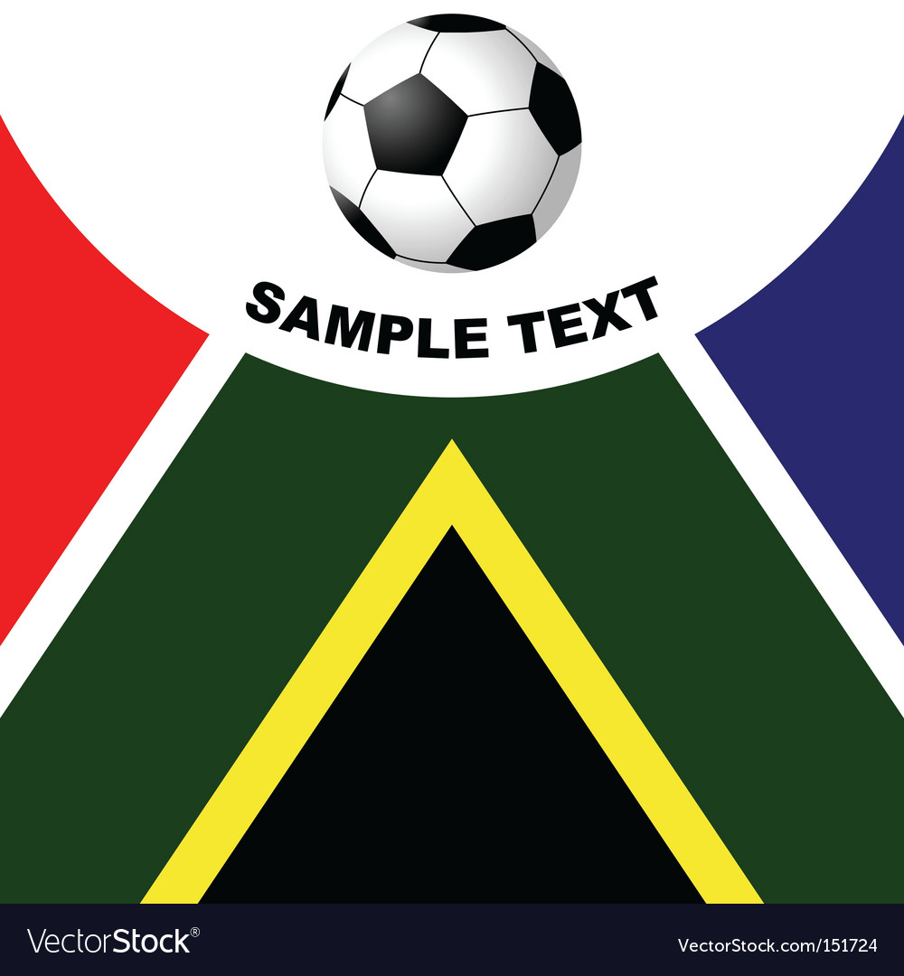 South Africa soccer vector image
