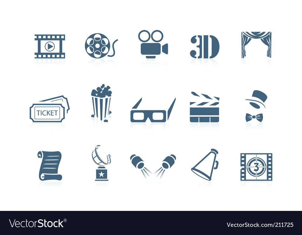 Movie icons piccolo series vector image