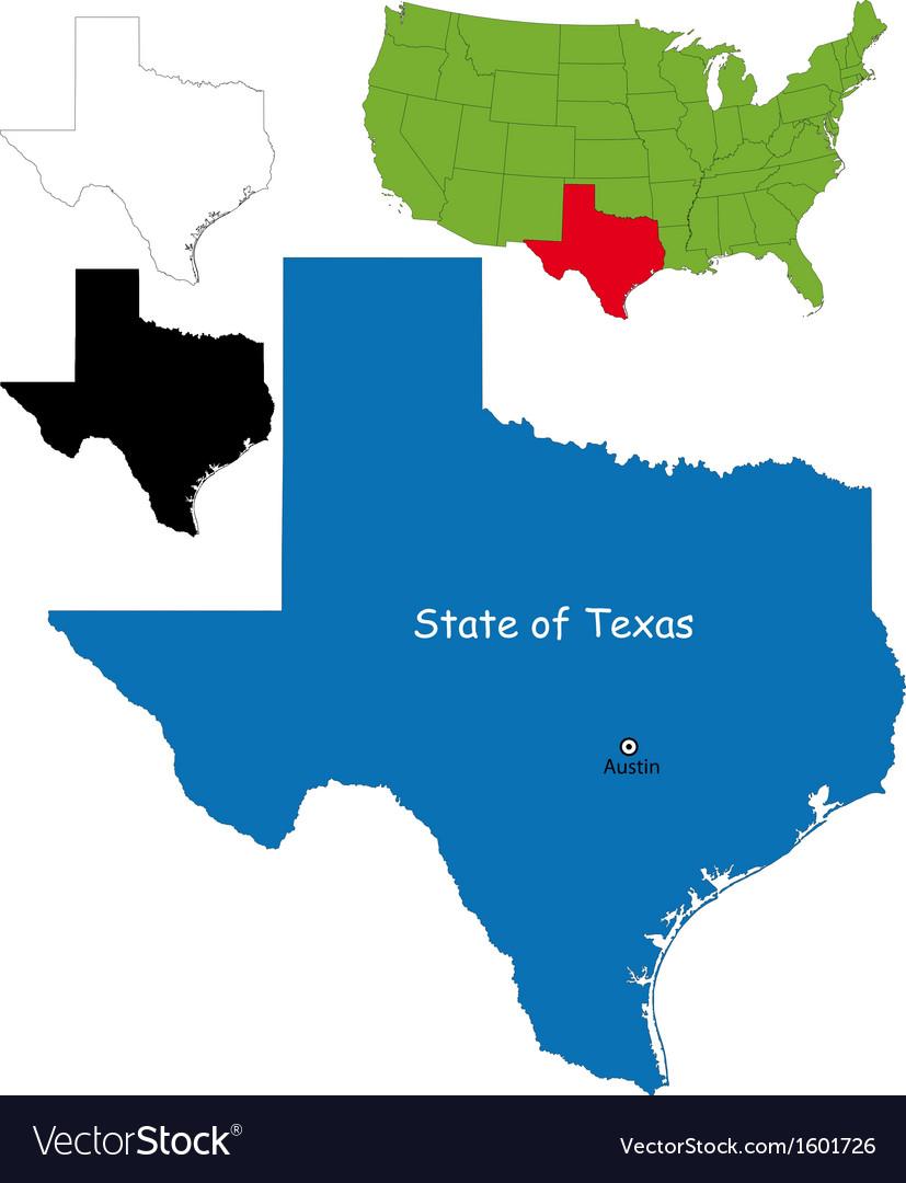 Texas map vector image